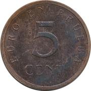 5 Euro Cent (Churriana) – reverse