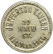 15 Cents - Jefferson Tavern (Hartford, CT) – obverse
