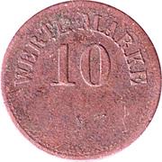 10 Pfennig (Werth-Marke; Copper) – obverse