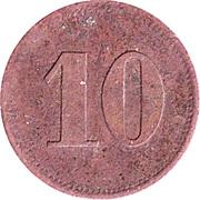 10 Pfennig (Werth-Marke; Copper) – reverse