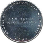 Token - 450 years of Reformation (Margarethe Luther) – reverse