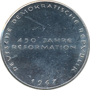 Token - 450 years of Reformation (Martin Luther) – reverse