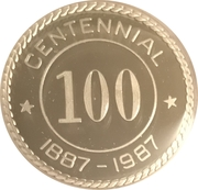 Token - Centennial Southern Pines, North Carolina – reverse