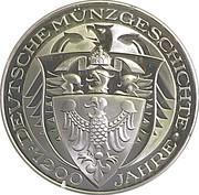 Coin-medal (1200 Years of German Coinage - Deutscher Goldgulden 1419) – reverse