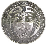 Coin-medal (1200 Years of German Coinage - Joachimstaler 1520) – reverse