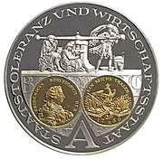 Coin-medal (1200 Years of German Coinage - Preussischer Reichstaler 1750) – obverse