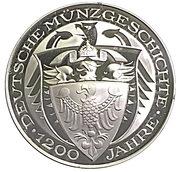 Coin-medal (1200 Years of German Coinage - Preussischer Reichstaler 1750) – reverse