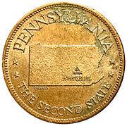 Token - Shell's States of the Union Coin Game, Version 1 - Bronze Collector's Coin Set (Pennsylvania) – obverse