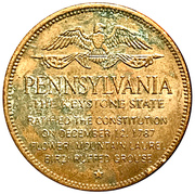 Token - Shell's States of the Union Coin Game, Version 1 - Bronze Collector's Coin Set (Pennsylvania) – reverse