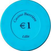 1 Euro - Casino Barriere (Lille) – obverse