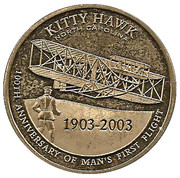 Medal - Wright Brothers Centennial of Flight – reverse