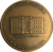 Token - Clay Center, Nebraska Centennial – obverse
