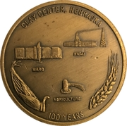 Token - Clay Center, Nebraska Centennial – reverse