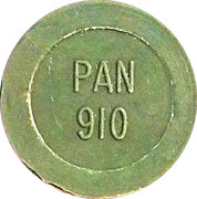 Token - PAN 910 (round, letter height 4.5 mm) – obverse