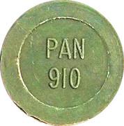 Token - PAN 910 (round, letter height 4.5 mm) – obverse