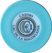 1 Euro - Casino Lac de la Magdeleine – obverse