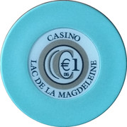 1 Euro - Casino Lac de la Magdeleine – reverse