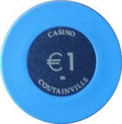 1 Euro - Casino Coutainville – reverse