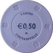 50 Cents - Casino Coutainville – reverse