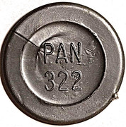 Token - PAN 322 (round, letter height 4.5 mm) – obverse