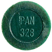 Token - PAN 328 (round, letter height 4.5 mm) – obverse