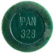 Token - PAN 328 (round, letter height 4.5 mm) – obverse