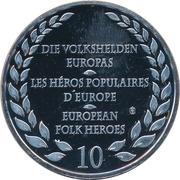Token - European Folk Heroes (Spartacus) – reverse