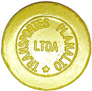Token - Transportes Planalto Ltda (round; LTDA without point) – reverse