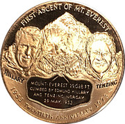 Token - Hillary and Tenzing – obverse