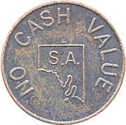 Token - Leisure centre Down Town – reverse