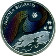 Token - World Money Fair Berlin 2006 (Aurora Borealis) – reverse
