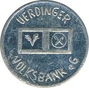 Token - Uerdinger Volksbank – obverse