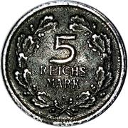 5 Reichsmark Rhineland (Miniature Coin) – reverse