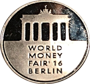 Lithuanian Mint Token - World Money Fair 2016 – obverse