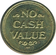Token - No cash Value (Dancing wizard) – reverse
