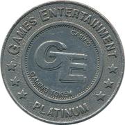 Casino Gaming Token - Games Entertainment (Platinum) – obverse