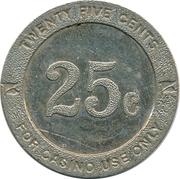 25 Cents - Casino Token RRR – reverse