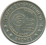 Casino Gaming Token - Games Entertainment (Bronze) – obverse