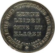 Token - in Memoriam dead Friedrich III – reverse