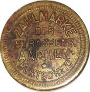12 ½ Pfennig - Strassenbahn Aachen-Burtscheid – obverse