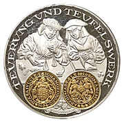 Coin-medal (1200 Years of German Coinage - Johann Georg I of Saxony Taler 1622) – obverse