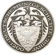 Coin-medal (1200 Years of German Coinage - Johann Georg I of Saxony Taler 1622) – reverse