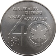 Medal - Inaugural Flight Vancouver - Winnipeg (Lockheed 14) – reverse