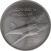 Medal - Inaugural Flight Vancouver - Winnipeg (Lockheed 14) – obverse