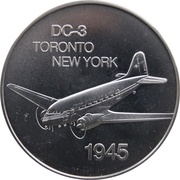 Medal - Inaugural Flight Toronto - New York (DC-3) – obverse