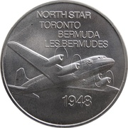 Medal - Inaugural Flight Toronto - Bermuda (North Star) – obverse