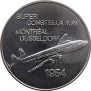 Medal - Inaugural Flight Montreal - Dusseldorf (Super Constellation) – obverse