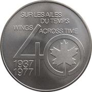 Medal - Inaugural Flight Montreal - Paris (DC-8) – reverse