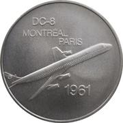 Medal - Inaugural Flight Montreal - Paris (DC-8) – obverse