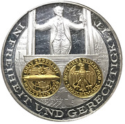 Coin-medal (1200 Years of German Coinage - 5 Mark - Graf Zeppelin 1930) – obverse